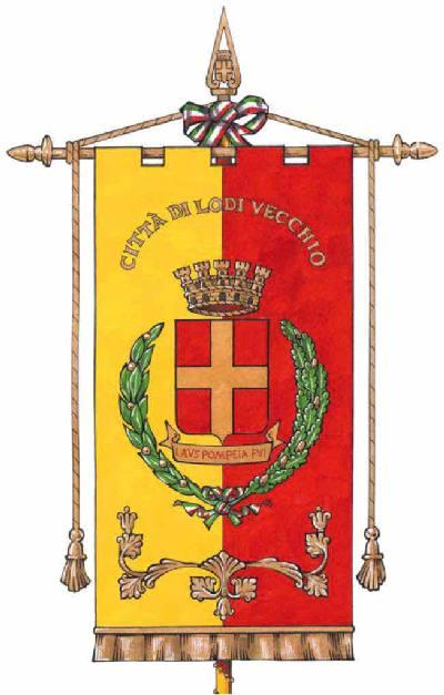 Gonfalone del Comune di Lodi Vecchio
