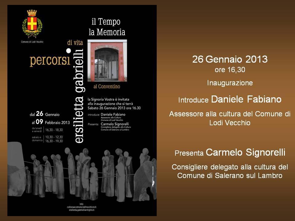 Mostra Ersilietta Gabrielli