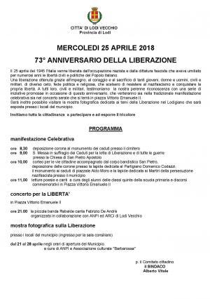 Programma 25 Aprile